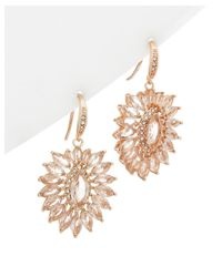 Carolee - Metallic Glass Stone Cluster Drop Earrings - Lyst