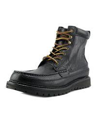 Polo Ralph Lauren | Willingcott Men Round Toe Leather Black Combat Boot for Men | Lyst