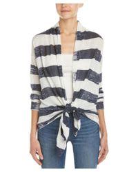 Splendid | Multicolor Striped Linen Cardigan | Lyst