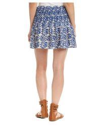 Love Sam - Blue Printed Skirt - Lyst