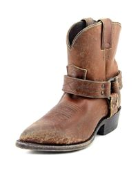 Frye | Billy Harness Short Women Pointed Toe Leather Brown Ankle Boot | Lyst