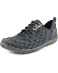 Clarks - Ibeeck Lace Women Round Toe Synthetic Black Sneakers - Lyst