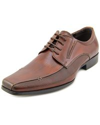 Kenneth Cole Reaction | Self Review Men Square Toe Leather Brown Oxford for Men | Lyst