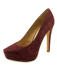 BCBGeneration | Red Dixie Open Toe Synthetic Platform Heel | Lyst