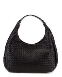 Bottega Veneta | Gray Medium Intrecciato Nappa Leather Campana Bag | Lyst