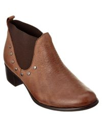 Munro | Brown American Austen Leather Ankle Boot | Lyst