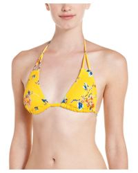 Lisa Curran | Multicolor Lisa Curren Amelie Floral Print Bikini Top | Lyst
