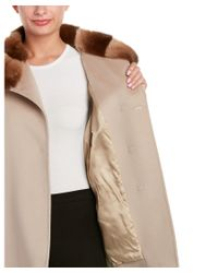 Cinzia Rocca - Natural Wool Coat - Lyst