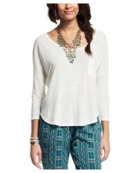 Velvet | White By Graham & Spencer For Calypso Yosie Linen T-shirt | Lyst