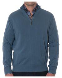 Robert Talbott - Blue Cooper Cotton 1/4-zip Sweater for Men - Lyst