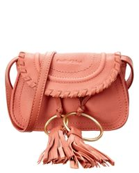 See By Chloé | Pink Polly Mini Leather Belt Bag | Lyst