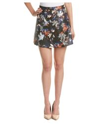 Re:named | Black Re:named Printed A-line Skirt | Lyst