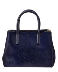 Anya Hindmarch | Blue Wink Haircalf & Leather Small Ebury Tote | Lyst