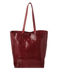Sorial   Red Leather Rubina Tote   Lyst