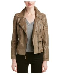 Vince Camuto   Natural Asymmetrical Leather Jacket   Lyst