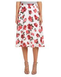 BB Dakota | Red Ashley Midi Skirt | Lyst