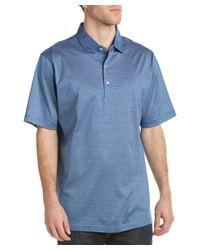 Peter Millar | Blue Lisle Polo Shirt for Men | Lyst