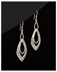 Lois Hill - Metallic Classic Silver Signature Scroll Twisted Earrings - Lyst