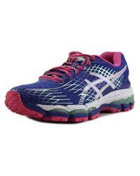Asics   Blue Gel-nimbus 17 Women Round Toe Synthetic Multi Color Running Shoe   Lyst