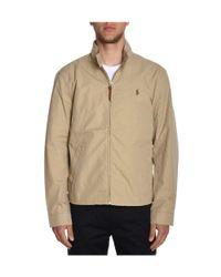 Ralph Lauren - Brown Men's Beige Cotton Outerwear Jacket for Men - Lyst