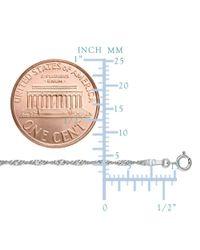 JewelryAffairs - 10k White Gold Singapore Chain Necklace, 1.7mm - Lyst