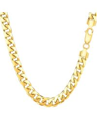 JewelryAffairs - 14k Yellow Gold Miami Cuban Link Chain Necklace - Width 5.8mm for Men - Lyst