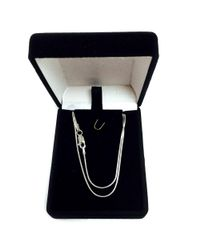 JewelryAffairs - White Sterling Silver Rhodium Plated Round Snake Chain Necklace, 1.1mm - Lyst