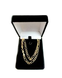 JewelryAffairs - 14k Yellow Gold Hollow Figaro Chain Necklace, 4.6mm - Lyst