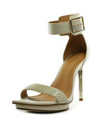 Calvin Klein | Vable Women Open Toe Synthetic White Sandals | Lyst
