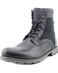 Clarks | Black Darian Hi Round Toe Leather Boot for Men | Lyst