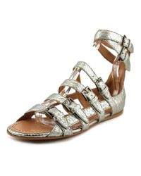 Alaïa | Metallic Stella Women Open Toe Leather Silver Gladiator Sandal | Lyst