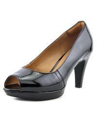 Clarks | Narine Rowe Women Round Toe Synthetic Black Heels | Lyst
