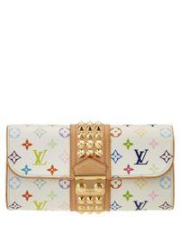 Louis Vuitton | White Multicolore Monogram Canvas Courtney Clutch | Lyst