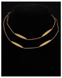 Argento Vivo - Metallic 18k Over Silver 36in Station Necklace - Lyst
