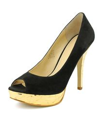 Enzo Angiolini - Black Sully Women Open-toe Suede Heels - Lyst