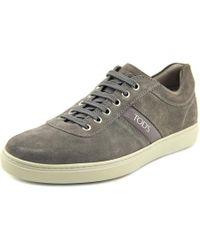 Tod's | Gray Nuovo Allacciato Sport Cassetta Suede Fashion Sneakers for Men | Lyst