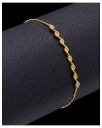 Argento Vivo - Metallic 18k Over Silver Cz Bar Bracelet - Lyst