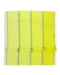 Valentino - St52x1 St Fine Yellow Raw Silk Scarf - Lyst