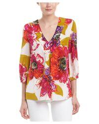 Trina Turk - Multicolor Nanette Silk Top - Lyst