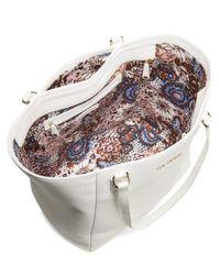 Vera Bradley - White Leather Ella Leather Tote - Lyst