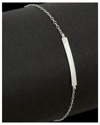 Argento Vivo | Metallic Silver Cz Id Bracelet | Lyst