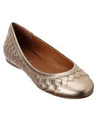 French Sole | Metallic Queen Leather Flat | Lyst