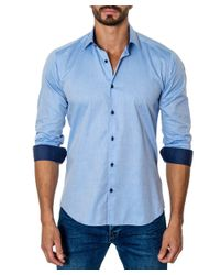 Unsimply Stitched | Blue Woven Sport Shirt for Men | Lyst