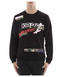 KENZO - Men's Black Cotton Sweatshirt for Men - Lyst