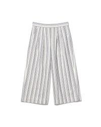 Thacker NYC - Multicolor Marbella Culottes Striped Linen - Lyst
