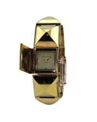 Vince Camuto - Metallic Pyramid Bracelet Covered Dial Watch Gold Plated Watch - Lyst