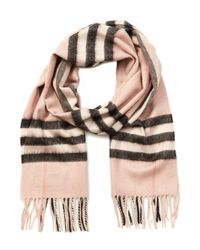 Burberry - Multicolor Classic Check Cashmere Scarf - Lyst
