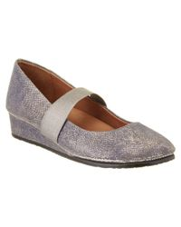 Gentle Souls - Gray Aria Leather Flat - Lyst