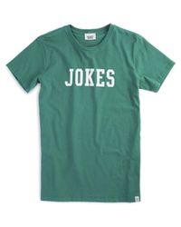 Sleepy Jones - Green Jokes T-shirt for Men - Lyst