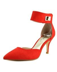 Nicole Miller | Brandy Women Pointed Toe Synthetic Red Slingback Heel | Lyst